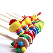 Baby Wooden Hand Frog Push And Pull Animal Toddler Walker Children Kids Toy Car Outdoor Sports brinquedos juguetes