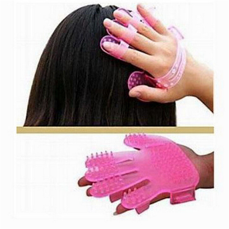 Silicone Hair Shampoo Massage Brush Head Massage Five Fingers Hair Brush Hair Care Tool Health Shampoo Massage Relaxation(China (Mainland))