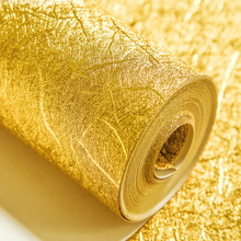 Thickened 10MX53CM Solid Color Gold Silver Foil Wallpaper PVC Wire Drawing Wallpaper Waterproof For Living Room Bar Background(China (Mainland))