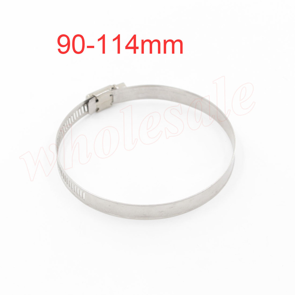 High Quality  90-114mm Hose Clamp Stainless Steel 20pcs/lot Adjustable Tube Pipe <br><br>Aliexpress