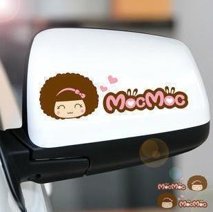 Car doll car side mirror logo stickers(China (Mainland))