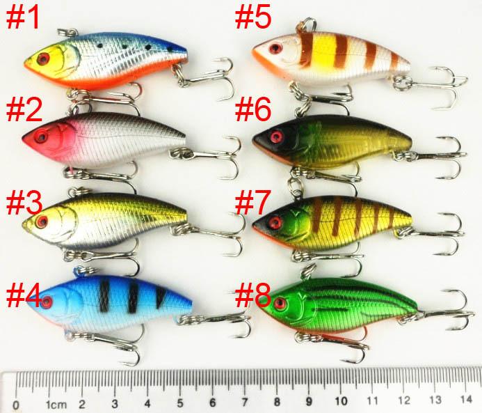 8pcs 50mm minnow fishing lures vib 5cm 6g 8 hooks vi007 for How to make plastic fishing lures