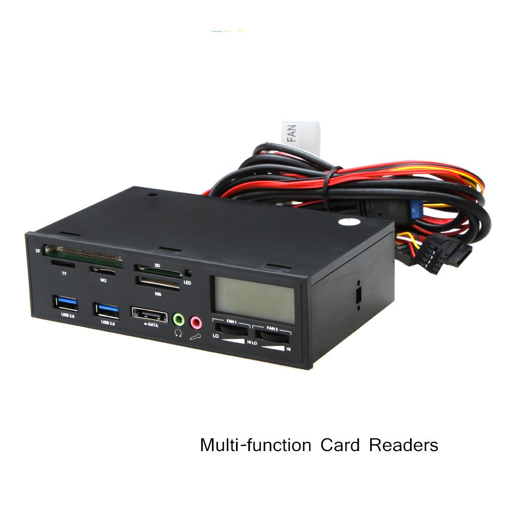 Multifunction Card Reader USB 3.0 e-SATA Card Reader PC Media Dashboard Front Panel I/O Ports Support MMC/CF/CFII/HS(China (Mainland))