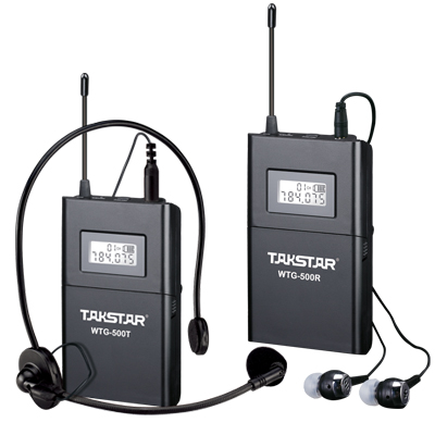 Top Quality Takstar WTG-500 UHF PLL Wireless tour guide system voice device teaching earphones Transmitter+Receiver+MIC+earphone(China (Mainland))