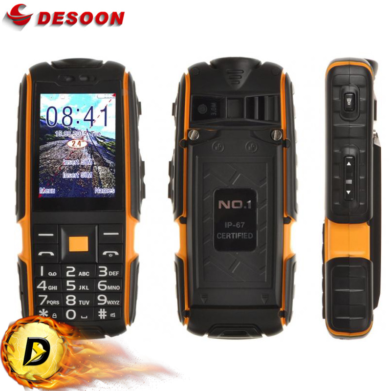 Original NO.1 A9 Mobile Phone 2.4 Inch Flashlight 4800mAh Waterproof Shockproof Rugged Unlock Outdoor Phone Dual SIM 3.0MP(China (Mainland))