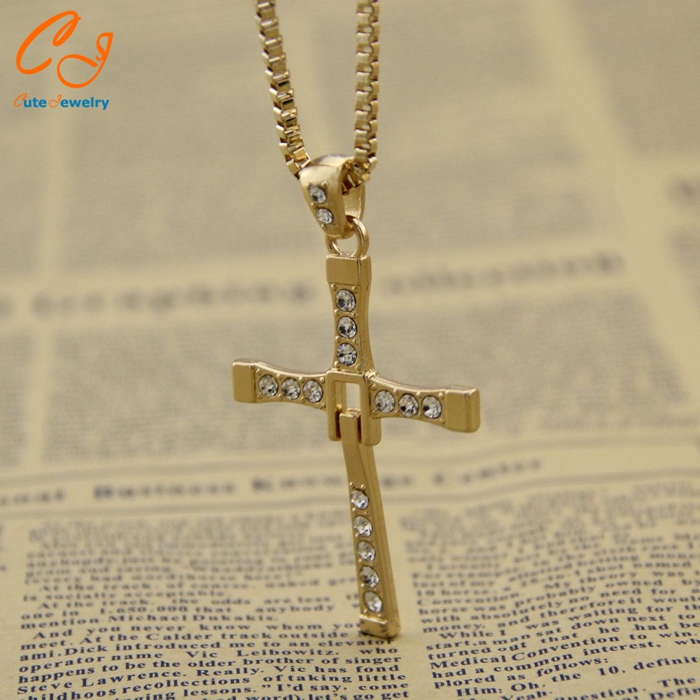 Wholesale 2016 Fast and Furious Seven Dominic Hot Selling Dominic Toretto Cross Men's Necklace Pendant Freeshipping(China (Mainland))