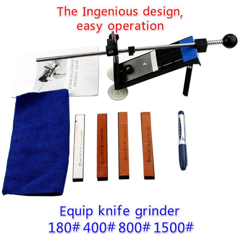 Apex Edge Kitchen Knife Sharpener System Fix-Angle 4 Stones Sharpening System(China (Mainland))