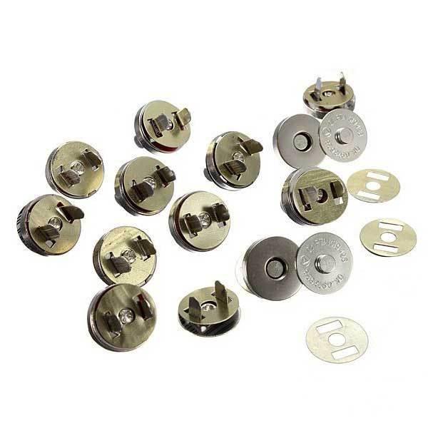Dimona 12 Set 18mm Nickel Magnetic Snaps Bag Clasp Metal Button Fastener(China (Mainland))