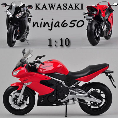 1:10 Kawasaki NINJA650R edition alloy model Motorcycle kids toys children Christmas gift Motorcycle Decorate\collect Simulation(China (Mainland))