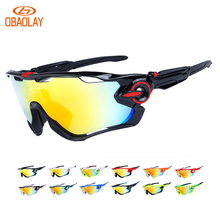 Buy Obaolay Polarized Cycling Glasses 5 Group Lens Men's Mountain Bike Goggles Sport MTB Bicycle Sunglasses Ciclismo Cycling Glasses for $19.60 in AliExpress store