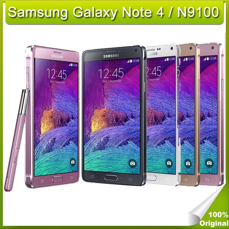 Original Samsung Galaxy Note 4 / N9100 Android 4.4 RAM 3GB 16GB Mobile Phone 16MP Camera FDD-LTE& WCDMA& GSM Network(China (Mainland))