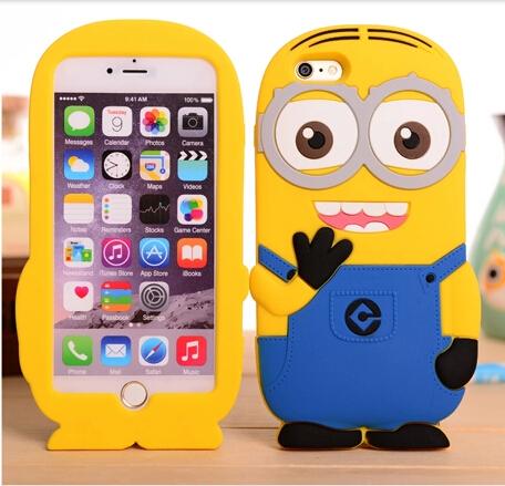 Hot selling cute cartoon back case Iphone 6 4.7 inch Soft silicon rubber Minions cover shell skin - 360 Vibra Audio Co., Ltd. store