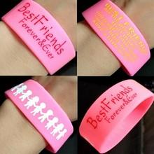 1 Pcs Karet Berkualitas Uniseks Terbaik Friend Gelang Pria Wanita Persahabatan Silikon Wristbands Teman Hadiah Besar Unik Gelang Manset(China)