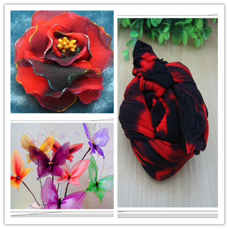 54 colors mix shipping or only one color ship double color stocking flowers/nylon flower /silk flower making/ DIY flowers craft(China (Mainland))