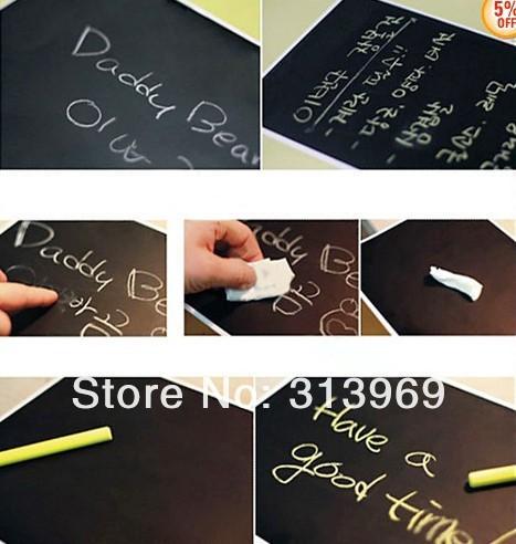 45*200CM Chalkboard Chalk Board Blackboard Removable Vinyl Wall Sticker Decal  chalkboard memo sticker 150pcs/lot