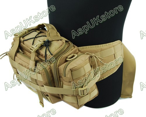 1000D Molle 3 Ways Utility Waist Pouch Bag Tan free shipping(China (Mainland))