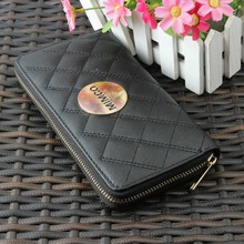 Manufacturer provides straightly lady purse M fashion foreign trade long zipper wallet wallet(China (Mainland))