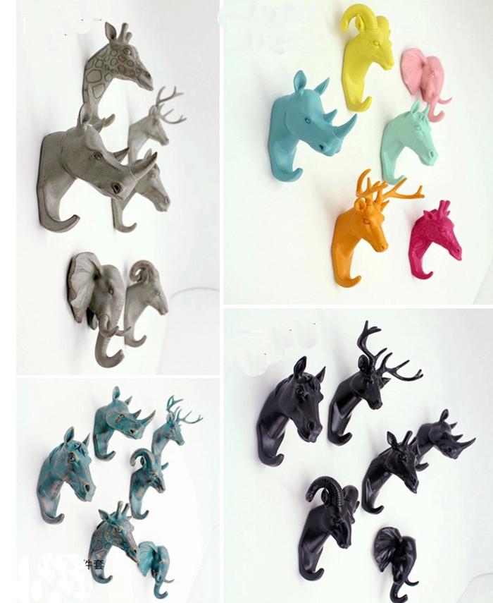 European Animal Head Hanging Creative Home Accessories