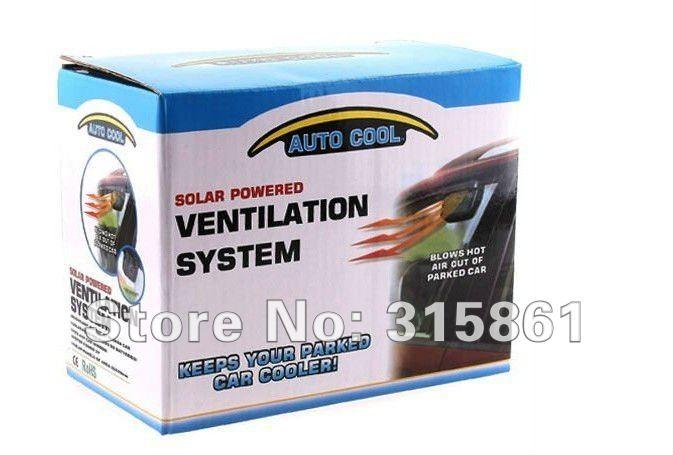 Free shipping 20pcs/lot Solor Powered Car solar Auto Cool Fan/Car Air Ventilation System Car Cooler Cooling Fan Auto fan(Hong Kong)
