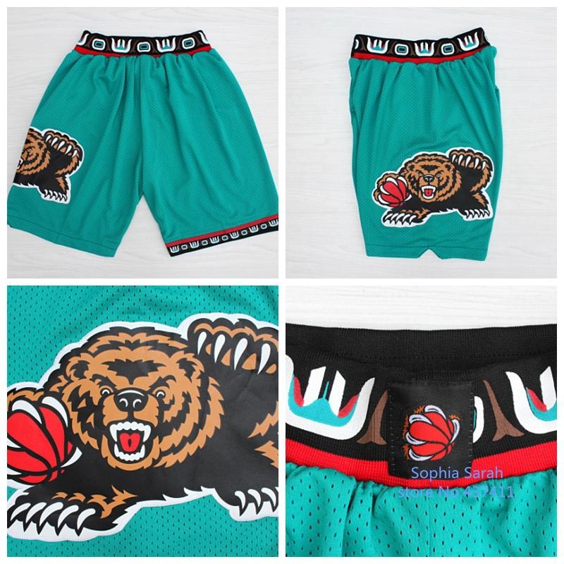 Гаджет  Vancouver Grizzlies Basketball Shorts,Vancouver 10 Mike Bibby 3 Shareef Abdur-Rahim 50 Bryant Reeves Throwback Basketball Shorts None Спорт и развлечения