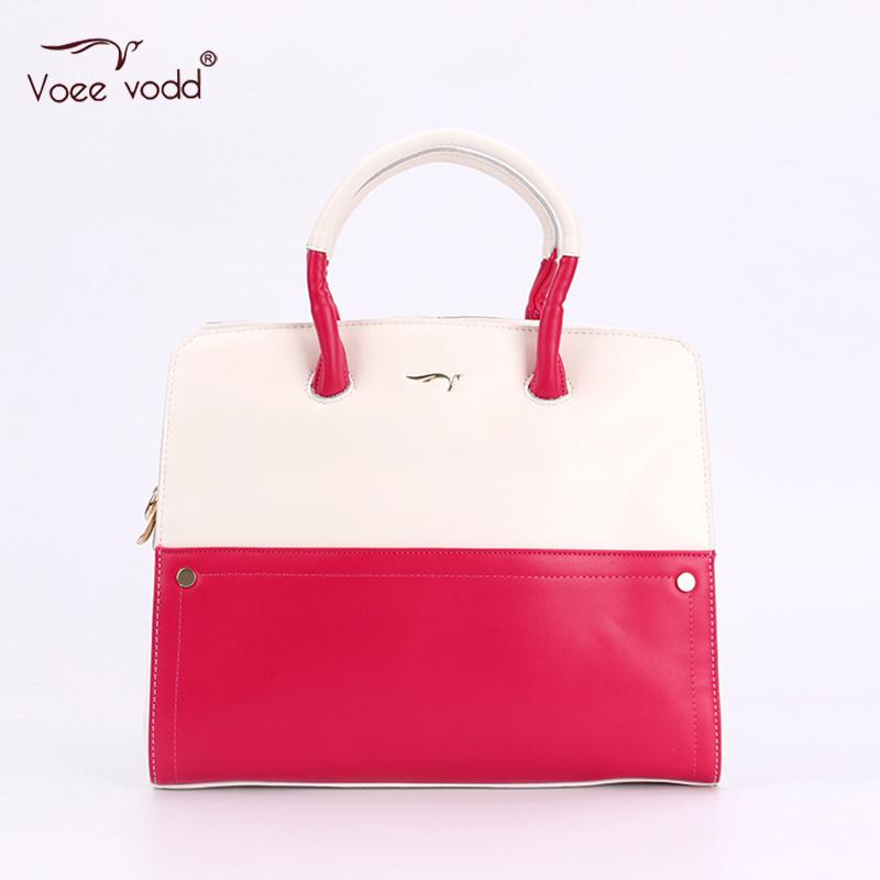 Fashion PU Leather Contrast Color OL Bag for Women VOEEVODD Women Handbag G2291<br><br>Aliexpress