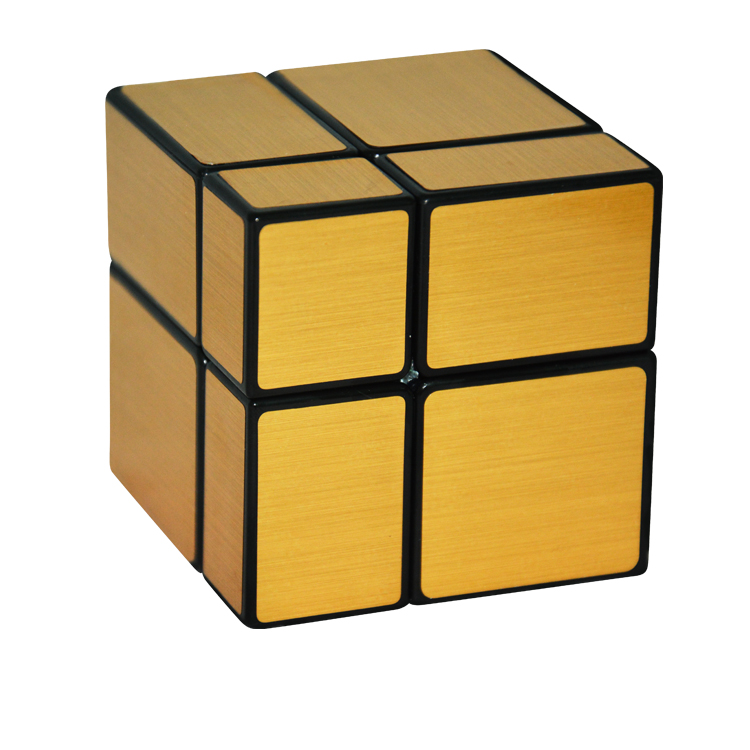 2016 New FangGe 2x2x2 Mirror Cube 2x2x2 Mir-two 2*2*2 Mirror Block Magic Cube Silver/Golden(China (Mainland))