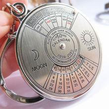 50 years perpetual calendar Keyring keyfob Unique Compass Metal KeyChain Ring  On Car