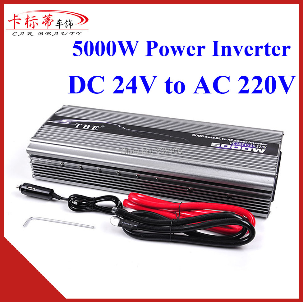 Car Power Inverter TBE 5000W DC 24V TO AC 220V Compact Portable Power Converter Charger Adapter Modified Sine Wave Inverter(China (Mainland))
