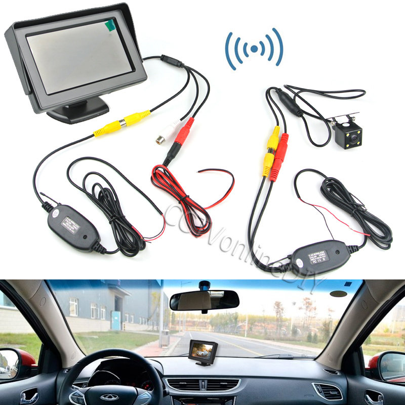 """Wireless Car Rear View Backup System Night Vision Camera + 4.3"""" TFT Monitor(China (Mainland))"""