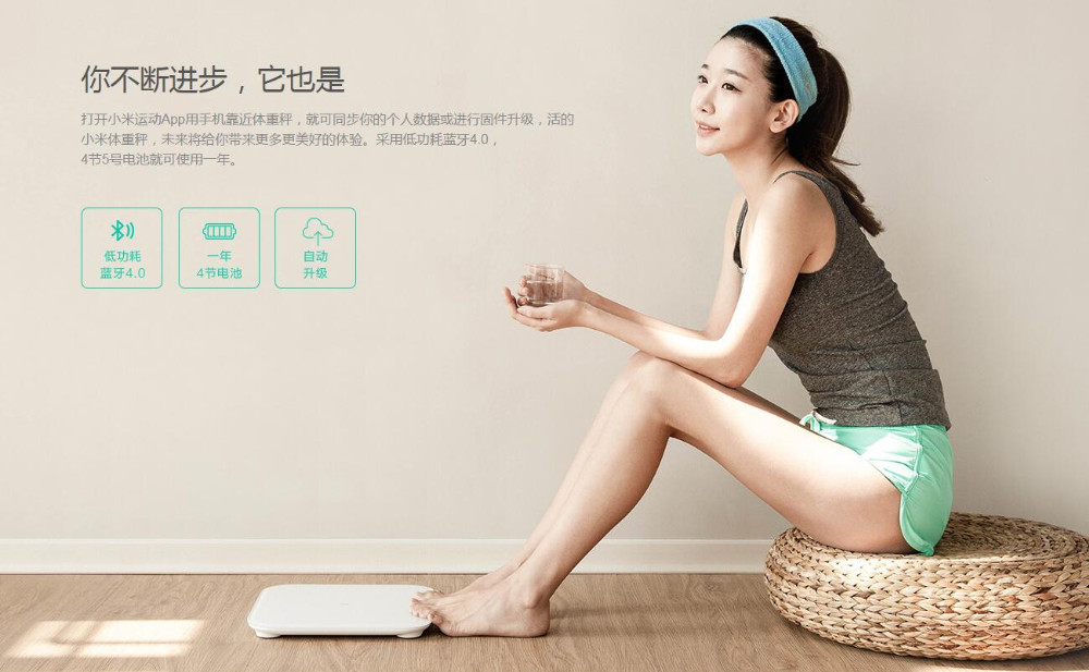 image for Original Xiaomi Scale Mi Smart Health Weighing Mi Scale Electronic Blu