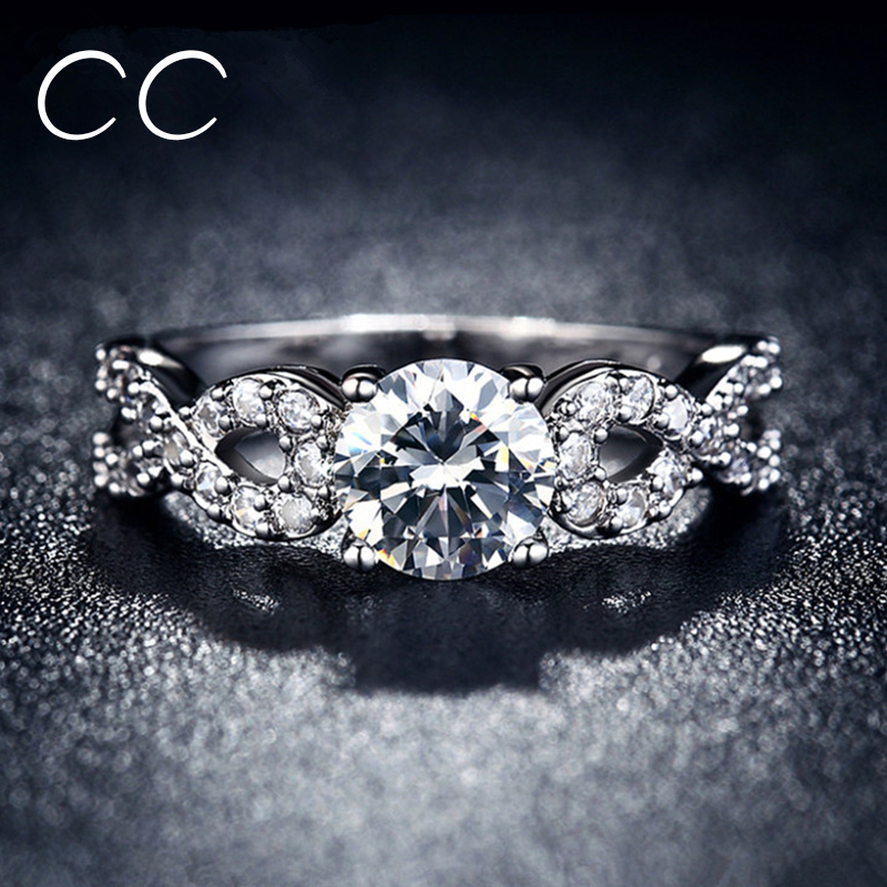 Hot Sale White Gold Plated Wedding Party Rings for Women Brilliant CZ Diamond Engagement Sapphire Jewelry Bijoux Anel Best Gifts(China (Mainland))