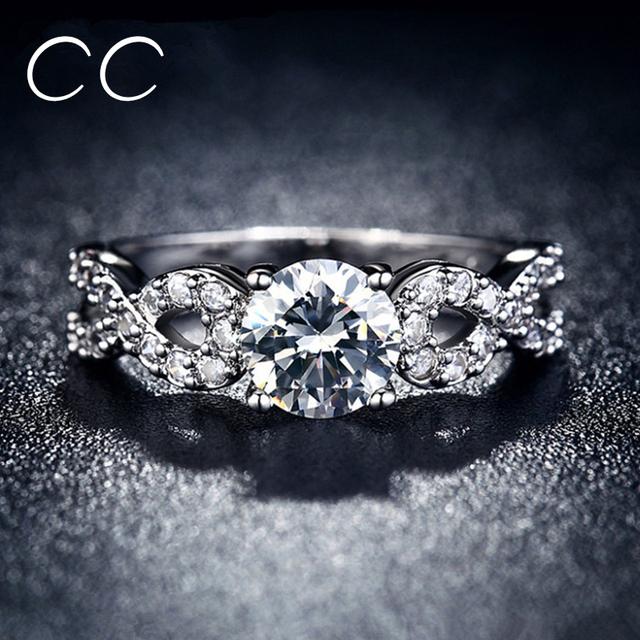 Горячая распродажа белого золота гальваническим ну вечеринку кольца для женщин бриллиант-линия ...