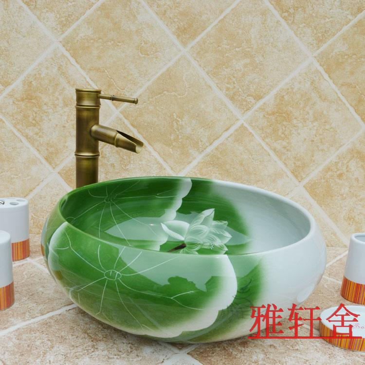 Ruffle washbasin wash basin decoration basin fashion counter basin<br><br>Aliexpress