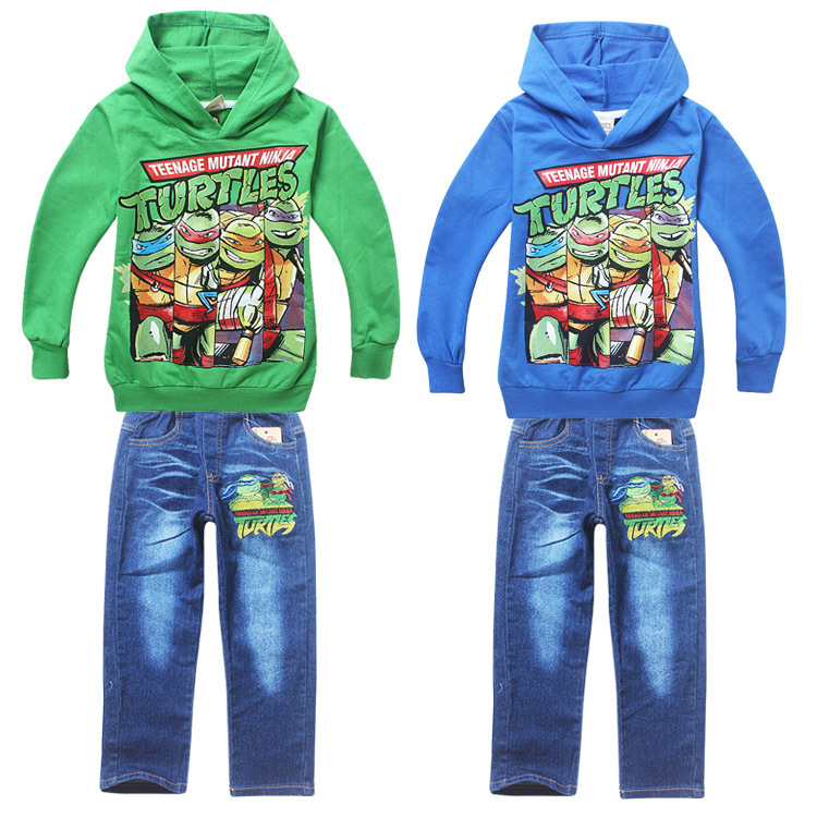 Teenage Mutant Ninja Turtles Long Sleeve Children Hoodies Jeans Sports Suit Baby Boy Kids Clothes Sets Clothing Set - Super Lucky Store store
