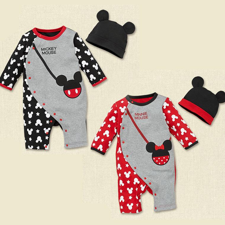 New Arrival 2014 Newborn Baby Boys Girls Rompers Infant Carters Original Cartoon Overalls Brand Bebe Jumpsuits 2pcs Romper + Hat<br><br>Aliexpress