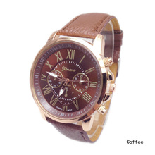 2015 Fashion Women Analog Quartz Roman Numerals Faux Leather Sports Watches Casual Lady Dress Wristwatches Relogios