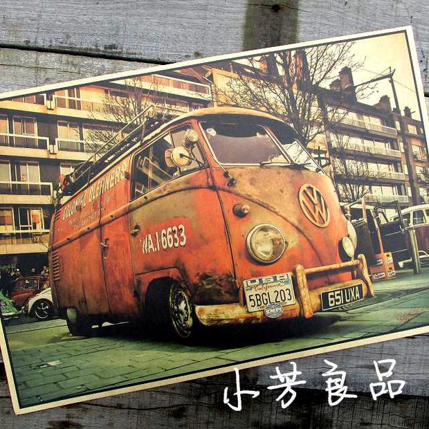 2015 Limited Sale Wall Decals Vinilos Stickers Vintage Signs Vw Bus Retro Painting Car Plate Bar Antique Wall Decoration Posters(China (Mainland))
