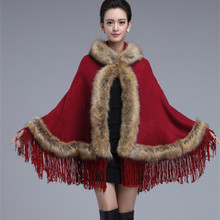 womens capes and poncho new 2015 fall clothing Plus Size women wrap wind sweaters fashion solid wool Cape cardigan coat(China (Mainland))