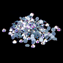 Crystal AB color 27 1440pcs Hotfix Rhinestones Crystal Rhinestone with Glue Backing Iron on Perfect for Clothes Shoes Dresses(China (Mainland))