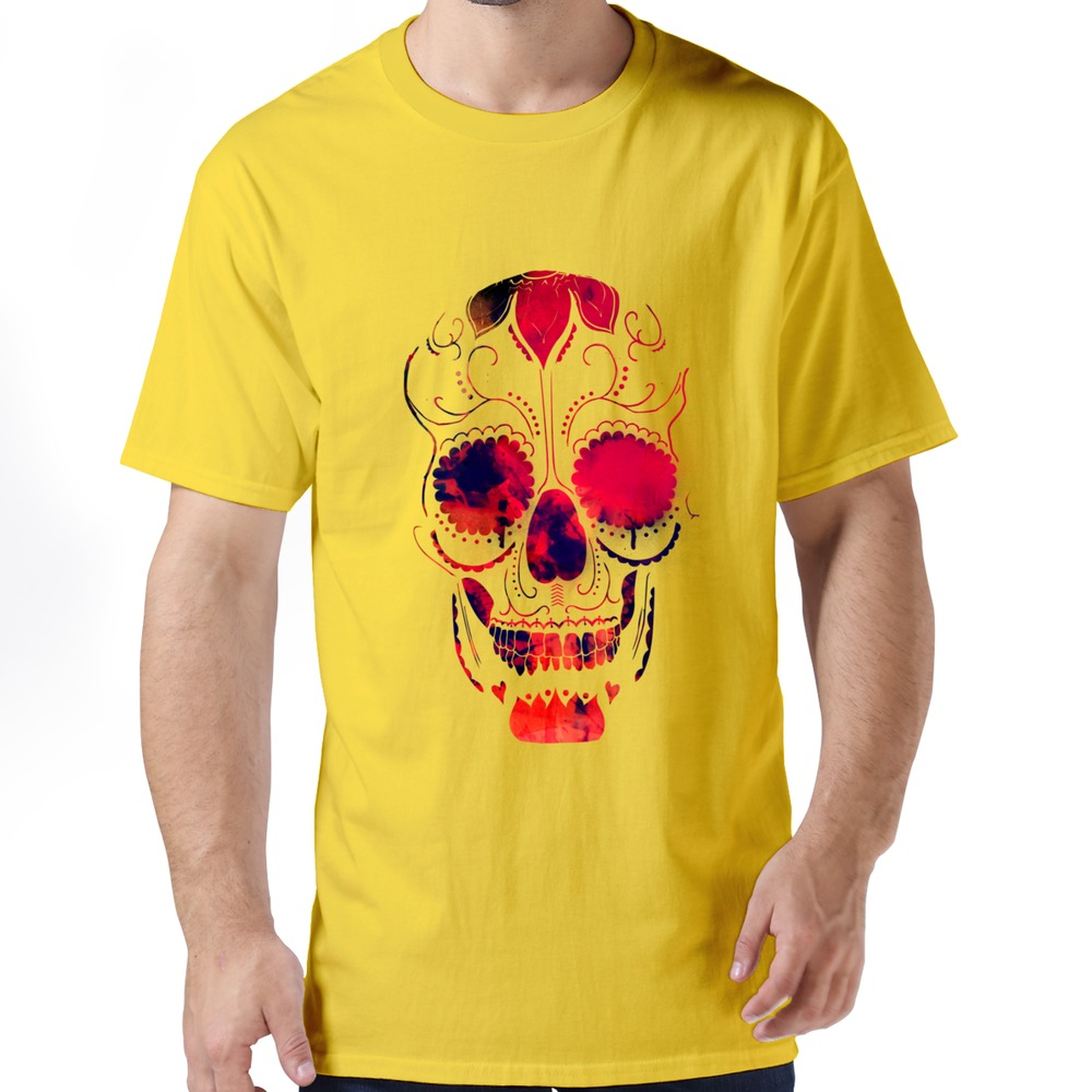 100 cotton boy 39 s top designer day of the dead skull t