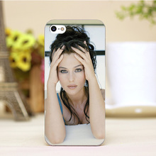 pz0006-3-9-12 Monica Bellucci Design Customized cellphone cases For iphone 4 5 5c 5s 6 6plus Hard Lucency Skin Shell Case Cover