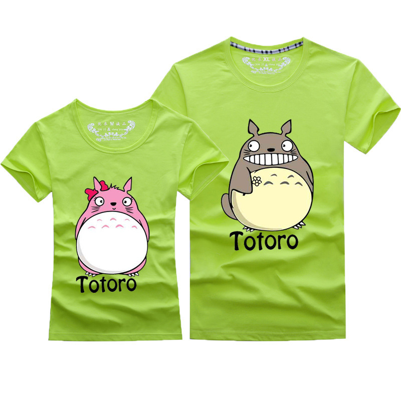 Newest Totoro T shirt For Lovers Couple T shirt Clothes Cartoon Shirt For Women and Men T-shirt Women's Tops Clothing Camisetas