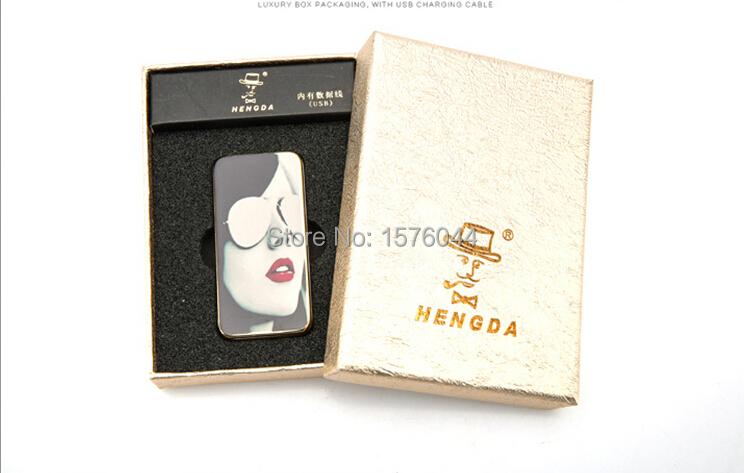 ถูก E4083Manufacturersขายแฟชั่นระดับไฮเอนด์ความงามบุหรี่อิเล็กทรอนิกส์เบาwindproofเงียบสะดวกชาร์จUSBเบา