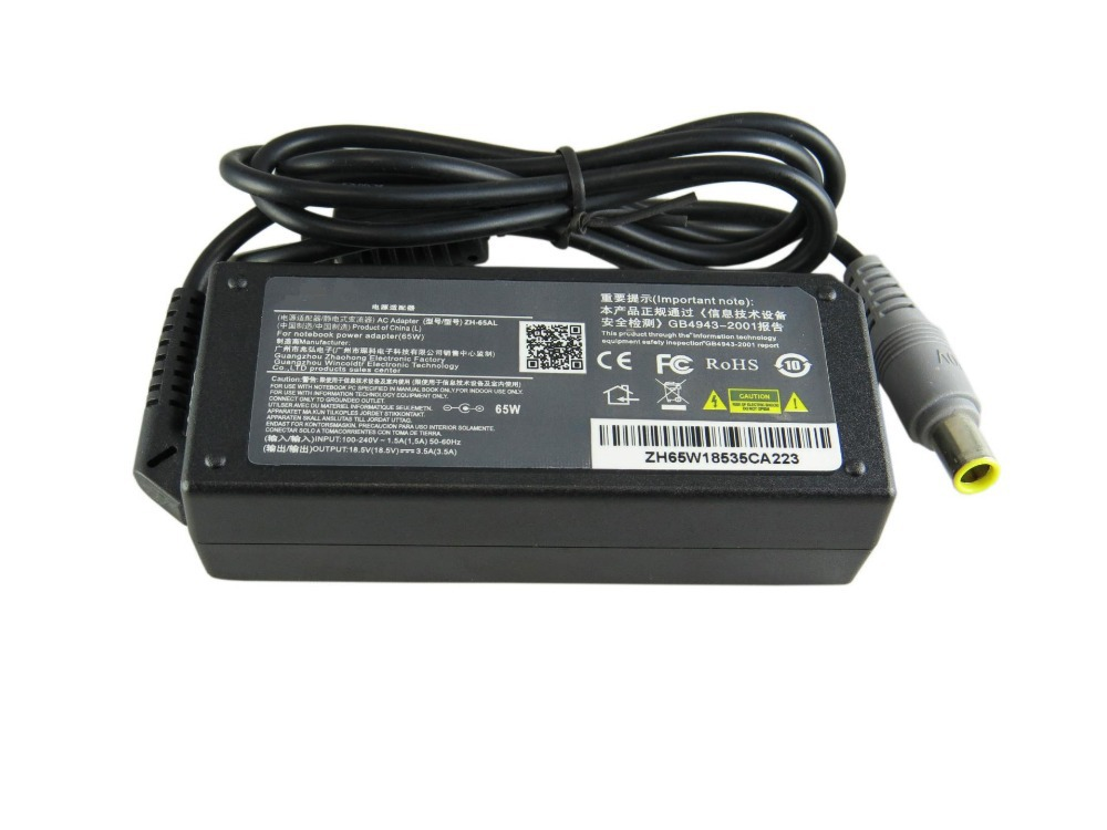 20V 3.25A 65W laptop AC power adapter charger for Lenovo Thinkpad T410 T410s T510 SL410 SL410k SL510 SL510k T510i X201 X220 X230(China (Mainland))