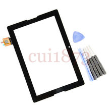Free shipping top quality Touch Screen Digitizer Glass Replacement For Lenovo A10-70 A7600 Tablet Black+tools +track code(China (Mainland))