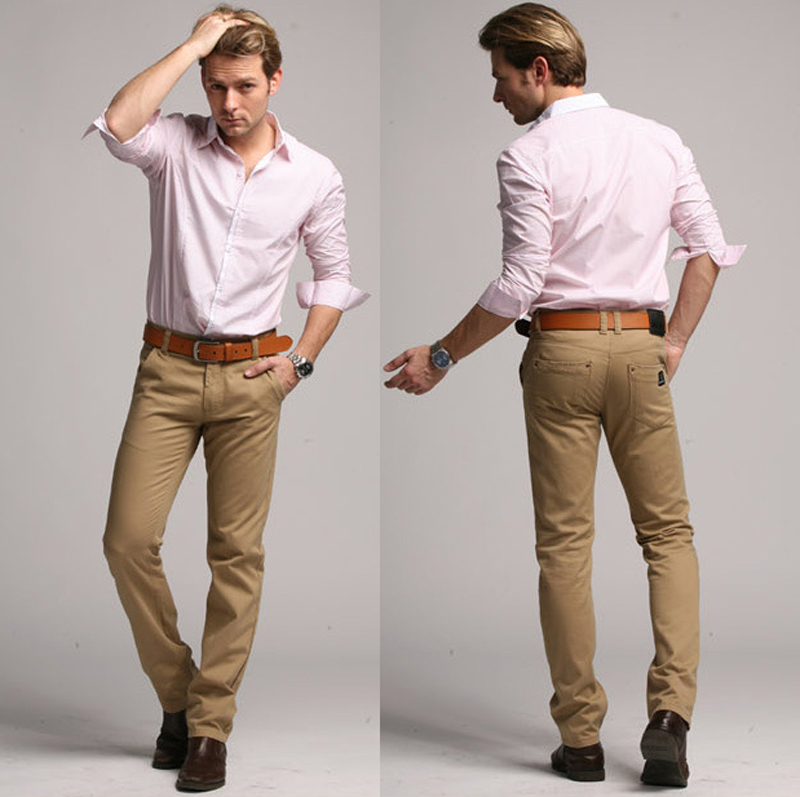 fashion with khaki pants - Pi Pants