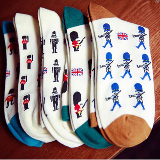 Skarpetki bawełniane męskie wzory Wielka Brytania