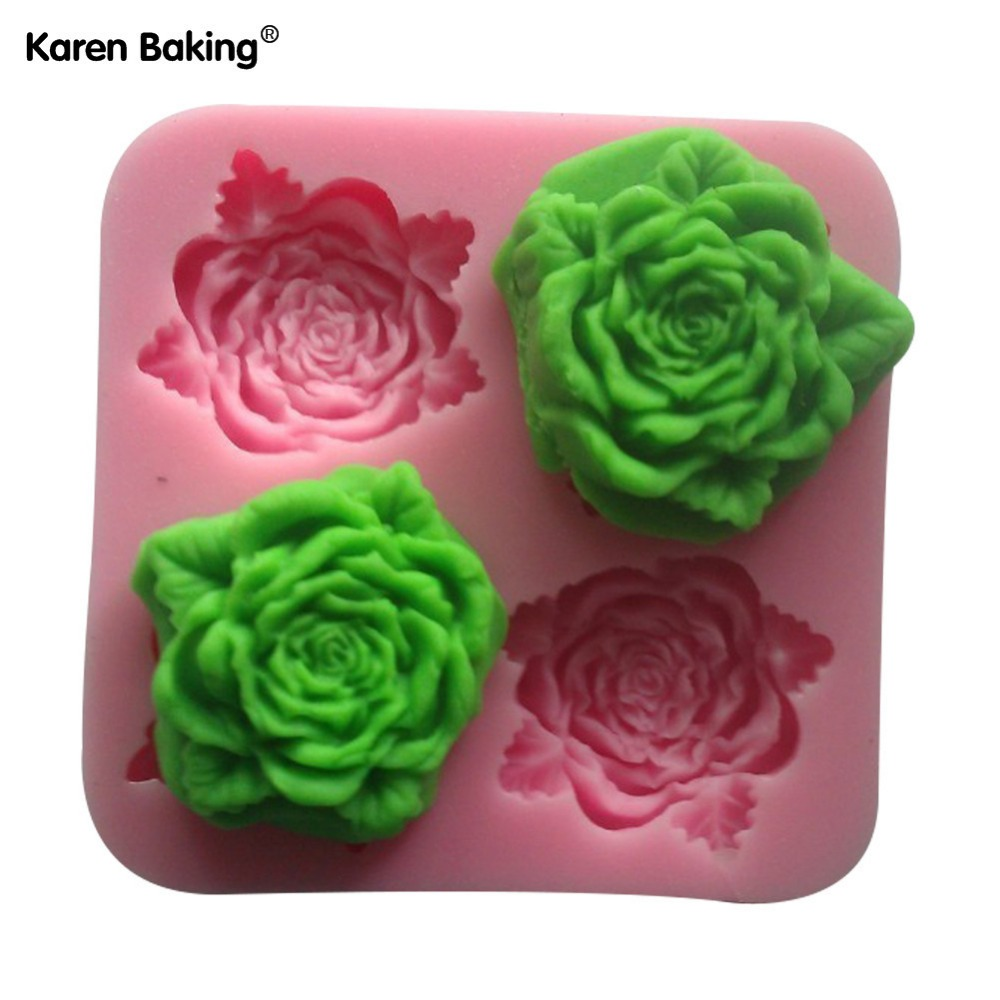 Beautiful Flower Shaped Chocolate Candy Jello 3D Mold Mould Cartoon Figre/Cake Tools -C059(China (Mainland))