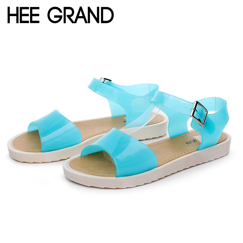 Jelly Sandals Summer Style Platform Gladiator Sandals Casual Flats Jelly Shoes Woman Candy Colors Flip Flops Creepers XWZ2385<br><br>Aliexpress