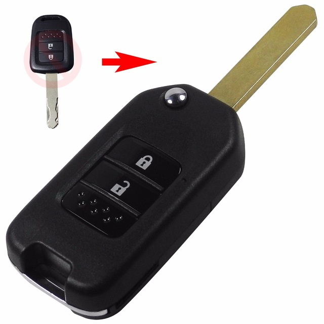 Folding Car Key Flip Key Shell Stying Cover Case 2 Button Remote Key Cover Smart Key Case For Honda CRV New Accord With Logo(China (Mainland))